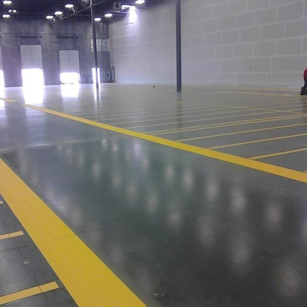 Marking for an aisle way painted by Stripe-a-Zone.