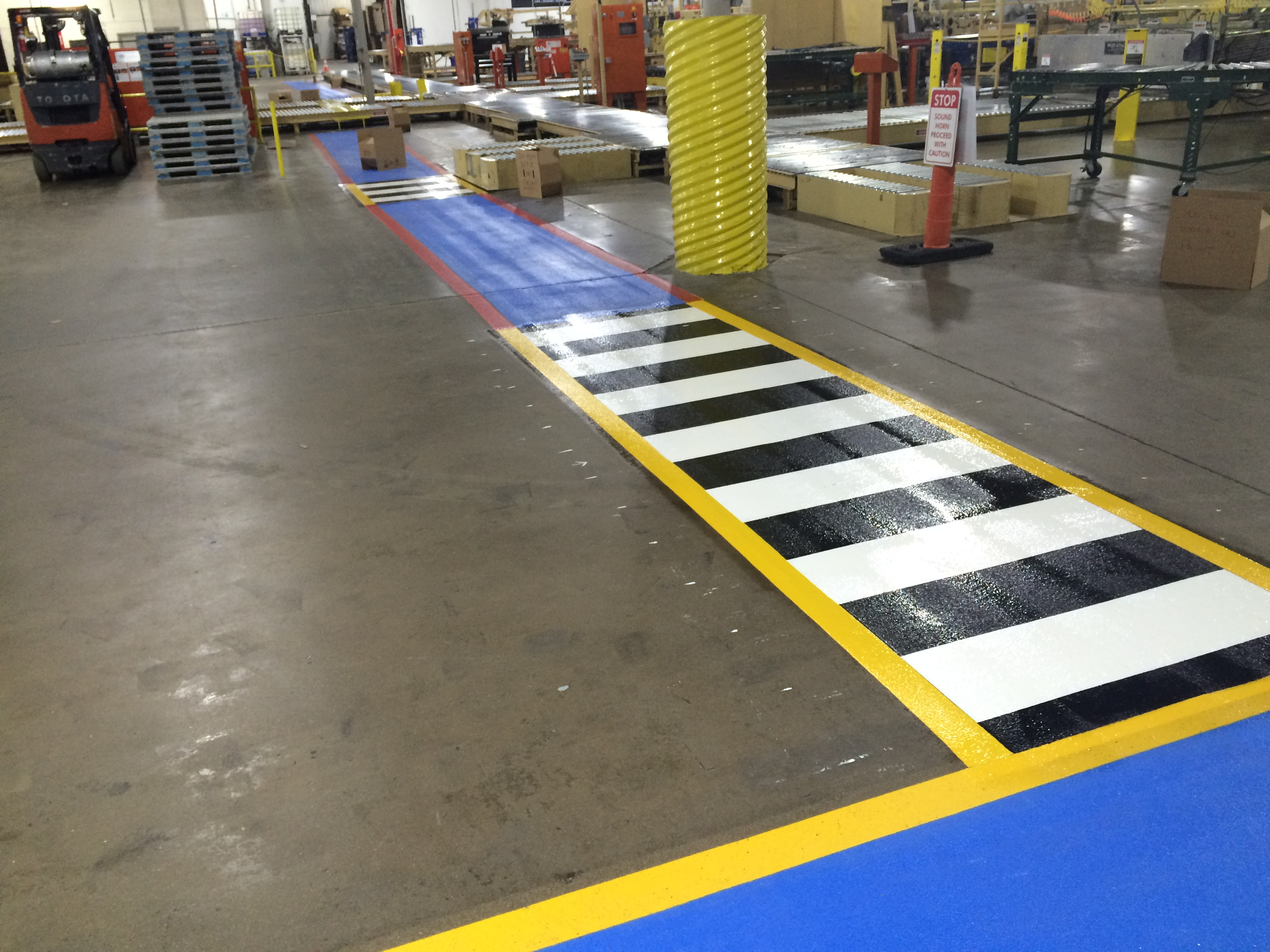 Warehouse Striping By Stripe A Zone