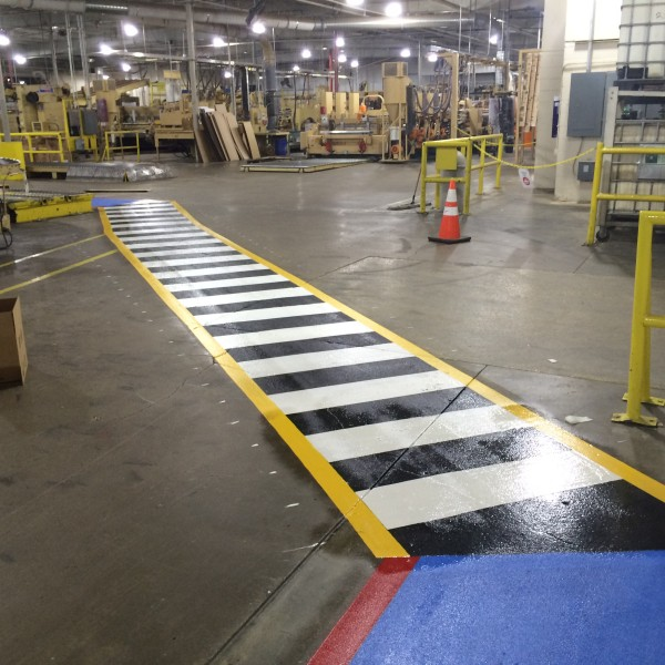 Warehouse striping project